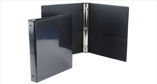 Black Clear Overlay Binders