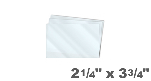 Business Card Laminating Pouches 2-1/4