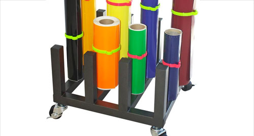 Vinyl Roll & Lamination Storage Racks