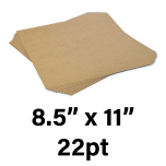 """22-Point Medium Weight Chipboard Sheets, 8-1/2"""" X 11"""" Inches, US-made, (100 sheets)"""