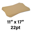 """22-Point Medium Weight Chipboard Sheets, 11"""" X 17"""" Inches, US-made, (240 sheets)"""