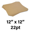 """22-Point Medium Weight Chipboard Sheets, 12"""" X 12"""" Inches, US-made, (100 sheets)"""