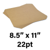 """22-Point Medium Weight Chipboard Sheets, 8-1/2"""" X 11"""" Inches, US-made, (480 sheets)"""