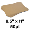 """50-Point Heavy Weight Chipboard Sheets, 8.5"""" X 11"""" Inches, US-made, (100 sheets)"""